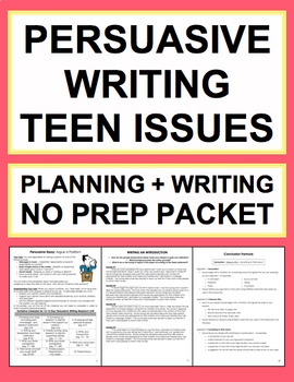 Persuasive Writing Graphic Organizers, Checklists & More