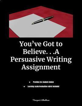 Persuasive Writing Bundle