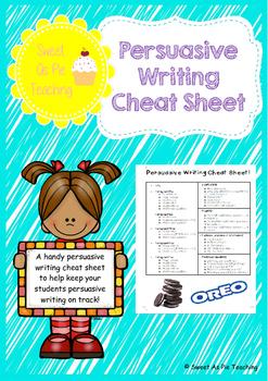 Persuasive Writing Cheat Sheet