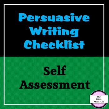 Persuasive Writing Checklist (Self Assessment)