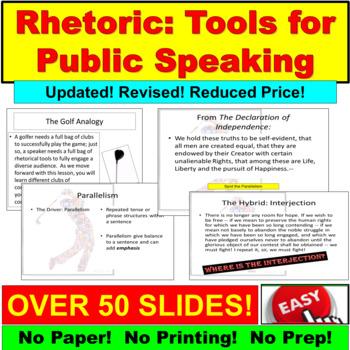 Rhetoric:  Tools for Public Speaking