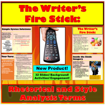 The Writer's Fire Stick: Rhetorical and Style Analysis Terms