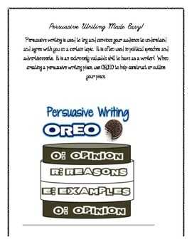 Persuasive Writing: {Complete Intro using OREO and Double Stuffed Oreo}