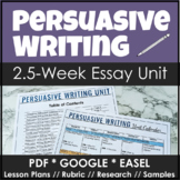 Persuasive and Argumentative Writing Unit with Lesson Plans & Sample Writing