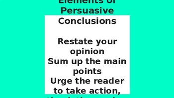 Persuasive Writing Conclusion