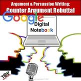 Persuasive Writing Counter Arguments & Rebuttals Google Digital Resource
