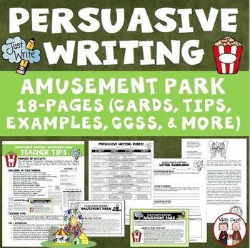 Persuasive Writing Activity Create Amusement Park Theme