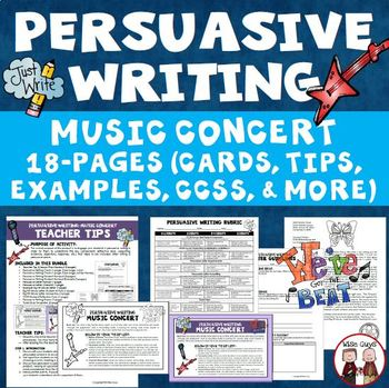 Persuasive Writing Create Your Own Band