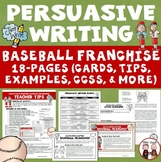 Persuasive Writing Create Baseball Franchise