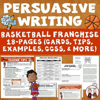 Persuasive Writing: Create College Basketball Tournament Theme