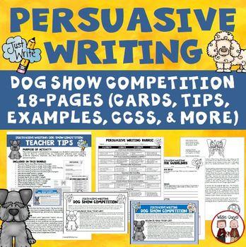Persuasive Writing Create Dog Show Theme