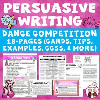 Persuasive Writing Create Your Own Dance Contest