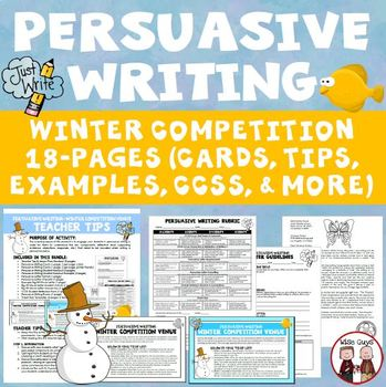 Persuasive Writing: Create an Olympic Theme (Aligned to Common Core)