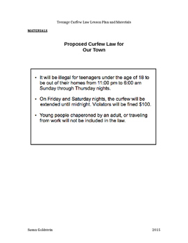 Debate! Curfews for Students?