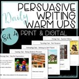 Persuasive Writing: Daily Editing Practice  -- Set 4 Warm Ups