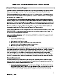 Persuasive Writing & Debating Activity Lesson Plan
