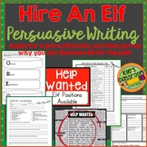 Persuasive Writing - Hire an Elf! - Elf Job Application- Christmas Writing