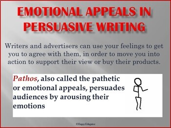Persuasive Writing Emotional Appeals PowerPoint