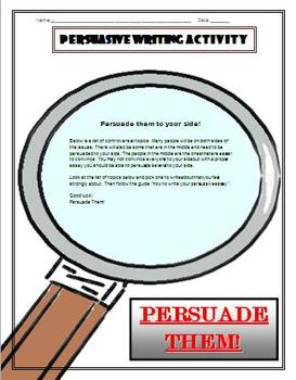 Persuasive Writing Essay Format with Prompts