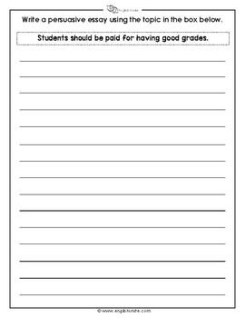 Persuasive Writing Essay Pack