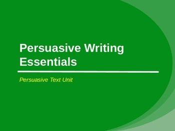 Persuasive Writing Essentials