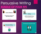 Persuasive Argument Writing- Ethos, Pathos, Logos The Art of Rhetoric Bundle PPT
