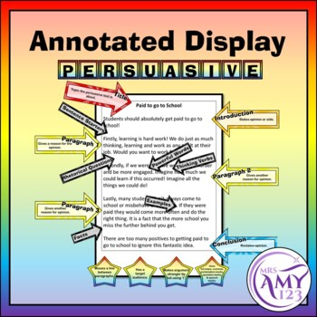 Persuasive Writing Features - Display or Activity
