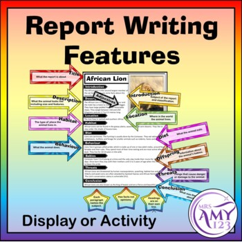 Features of a report writing