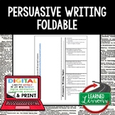 Persuasive Writing Foldable, Print & Digital Distance Learning