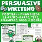 Persuasive Writing Football Franchise