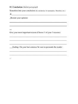 Persuasive Writing Format