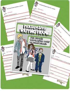 Persuasive Writing Frame Zombie Theme Great for Special Education