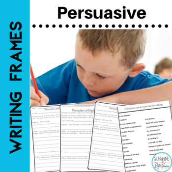 Persuasive Writing Prompts and Frames for First and Second Grade