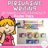 Persuasive Writing Grammatical Elements Poster Pack - Junior Years
