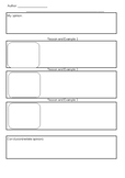 Persuasive Writing Graphic Organizer PRIMARY Argument Writ