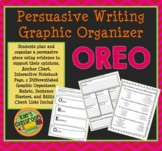 Persuasive Writing Graphic Organizer -OREO