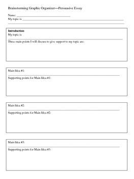 Persuasive Writing Graphic Organizers