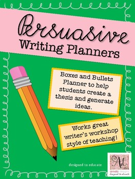 Persuasive Writing - Idea Generator and Planner