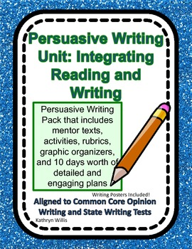Persuasive Writing:  Integrated Reading and Writing Unit