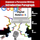 Persuasive Writing Introduction Paragraph Paperless Google Digital Resource