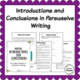 Persuasive Writing - Introductions and Conclusions