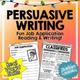 Job Application Reading and Persuasive Writing - Fun Real World Skills