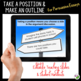 Persuasive Writing Lesson: Take a Position_Make an Outline