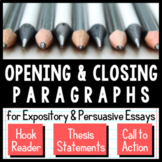 Writing Opening and Closing Paragraphs
