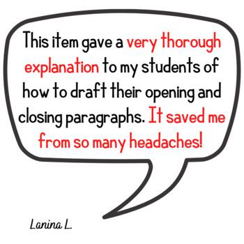 Writing Opening and Closing Paragraphs Bundle