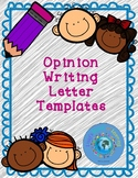 Opinion/Persuasive Writing Letter Template with Sentence Starters