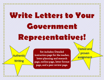 Persuasive Writing: Letters to Government Representatives
