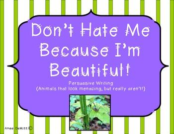 Persuasive Writing (Menacing Animals)