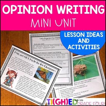 Persuasive Writing Mini Unit