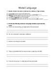 Persuasive Writing Modality Worksheet